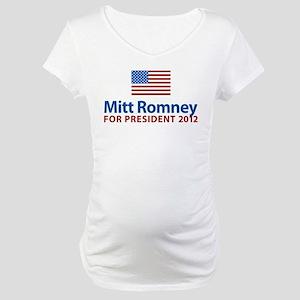 Mitt Romney American Flag Maternity T-Shirt