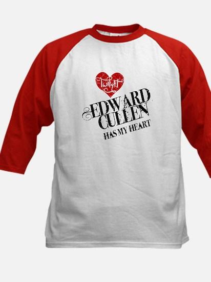 Edward Has My Heart Kids Baseball Jersey