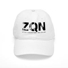 Queenstown Airport Code New Zealand ZQN Baseball Cap
