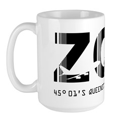 Queenstown Airport Code New Zealand ZQN Large Mug