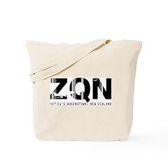 Queenstown Airport Code New Zealand ZQN Tote Bag