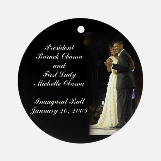Obama Inaugural Dance Ornament (Round)