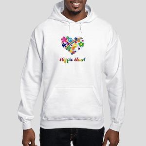 Hippie Heart Hooded Sweatshirt