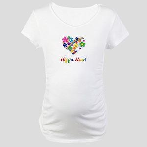 Hippie Heart Maternity T-Shirt