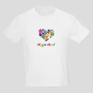 Hippie Heart Kids Light T-Shirt