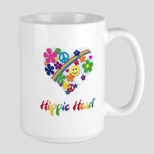 Hippie Heart Large Mug