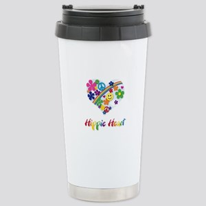 Hippie Heart Stainless Steel Travel Mug