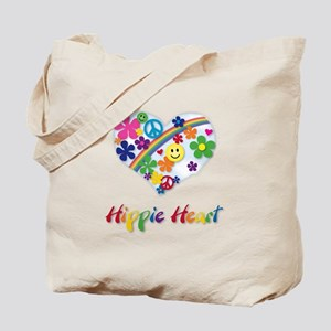Hippie Heart Tote Bag