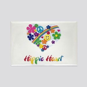 Hippie Heart Rectangle Magnet