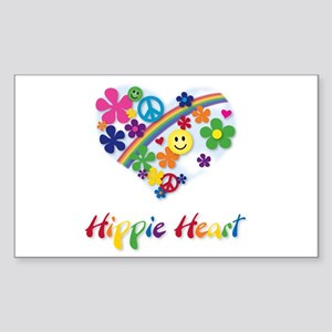 Hippie Heart Rectangle Sticker