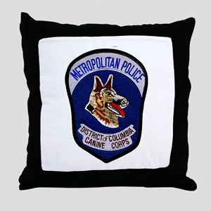 DC Police K9 Corps Throw Pillow
