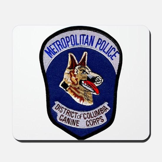 DC Police K9 Corps Mousepad