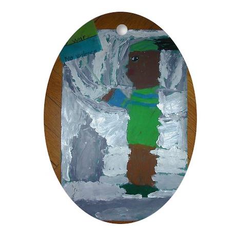Ruben Velez Oval Ornament