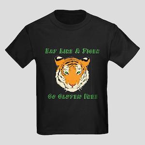 Gluten Free Tiger Kids Dark T-Shirt