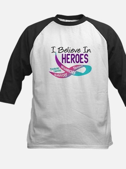 I Believe In Heroes THYROID CANCER Kids Baseball J