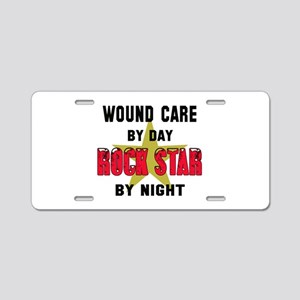 Wound care By Day, Rock Sta Aluminum License Plate