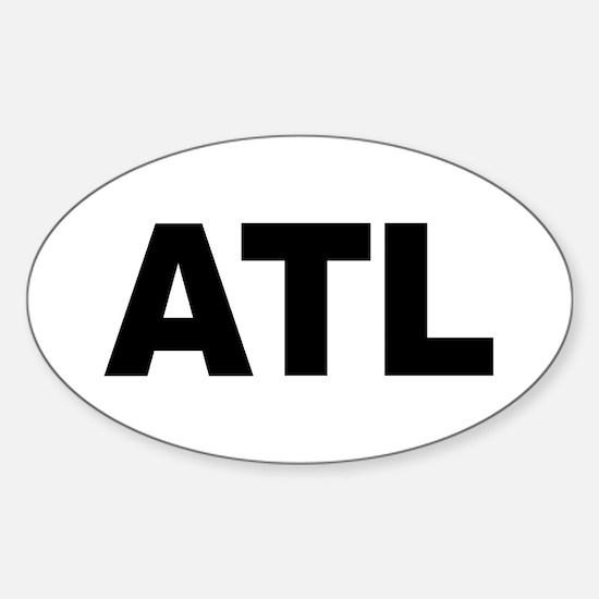 ATL (ATLANTA) Sticker (Oval)