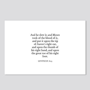 LEVITICUS  8:23 Postcards (Package of 8)