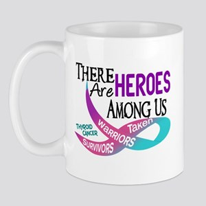 Heroes Among Us THYROID CANCER Mug