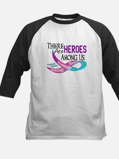 Heroes Among Us THYROID CANCER Kids Baseball Jerse