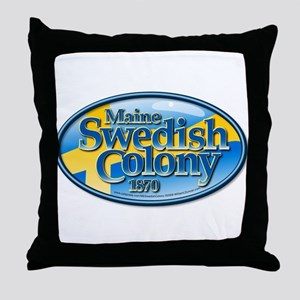 Maine Swedish Colony Throw Pillow