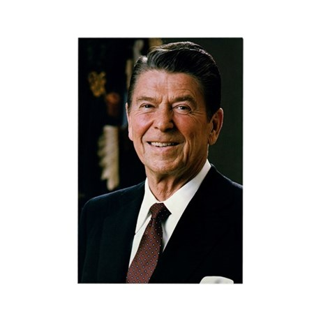 Reagan Portrait Rectangle Magnet