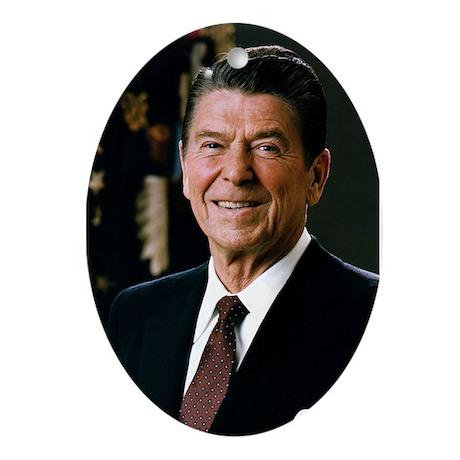 Reagan Portrait Oval Ornament