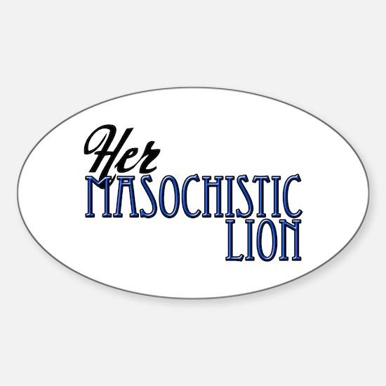Masochistic Lion Oval Decal