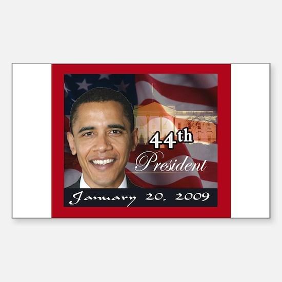 Obama Inauguration Rectangle Decal