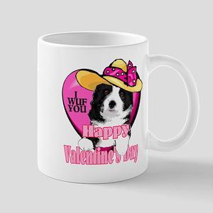 Border Collie Valentines Mug