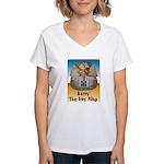 Barry The Boy King Women's V-Neck T-Shirt
