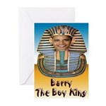 Barry The Boy King Greeting Cards (Pk of 20)