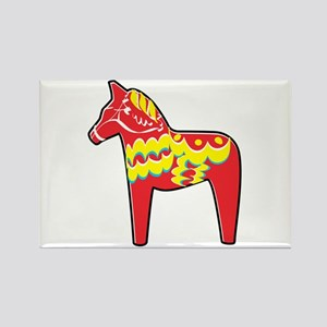 Pretty Dala Horse Rectangle Magnet