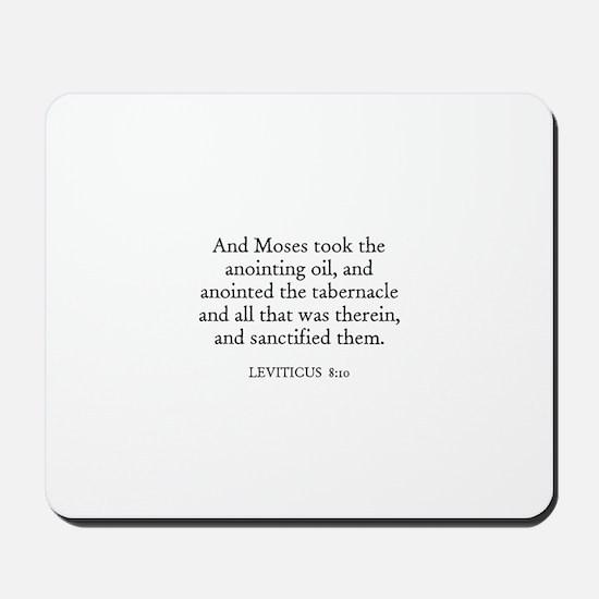 LEVITICUS  8:10 Mousepad