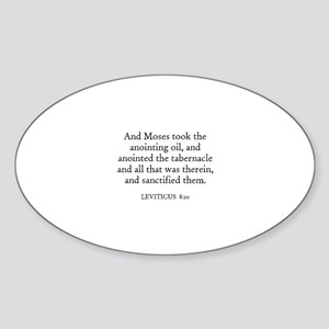 LEVITICUS 8:10 Oval Sticker