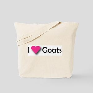 I LUV GOATS Tote Bag