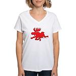 Red Moose Running Women's V-Neck T-Shirt