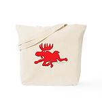 Red Moose Running Tote Bag