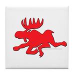 Red Moose Running Tile Coaster