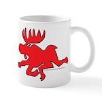Red Moose Running Mug