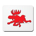 Red Moose Running Mousepad