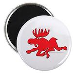 Red Moose Running Magnet