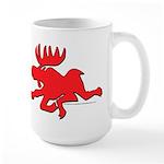 Red Moose Running Large Mug