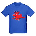 Red Moose Running Kids Dark T-Shirt