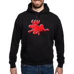 Red Moose Running Hoodie (dark)