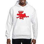 Red Moose Running Hooded Sweatshirt