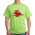 Red Moose Running Green T-Shirt
