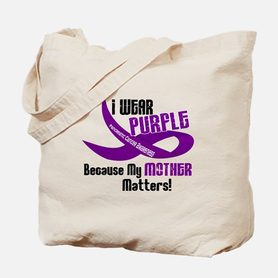 I Wear Purple For My Mother 33 PC Tote Bag