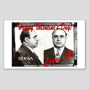 Al Capone Valentine Rectangle Sticker