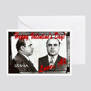 Al Capone Valentine Greeting Card